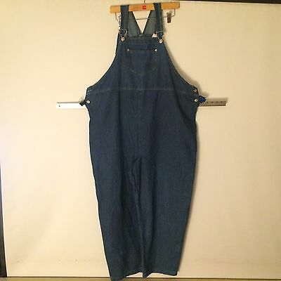 In Due Time Blue Denim Overalls Womens Sz Xl Maternity Bib Trousers Rompers