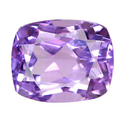 3.63 ct. Natural Unheated Excellent Cushion Shape Purple Amethyst Loose Gemstone