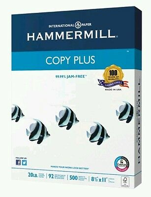 "Hammermill Copy Plus Paper, 92 Bright, 500 Sheets/Ream, 8 1/2"" x 11"", 20 lb."