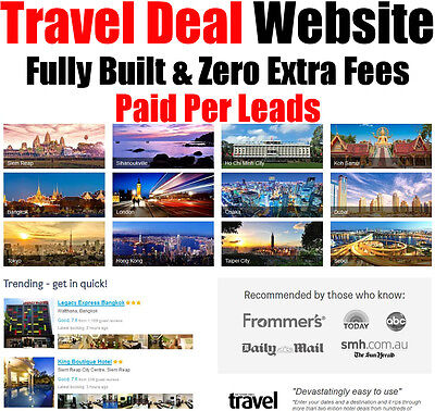 Travel Website - Fully Built - Pay Per Lead - Home Online Business - For Sale