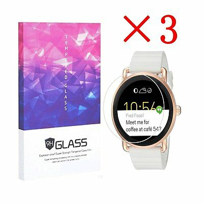 3 X Tempered Glass 9H Screen Protector for Fossil Q Wander (3 pcs)