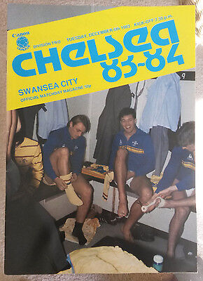 Chelsea v Swansea City Division Two 1983 - 1984