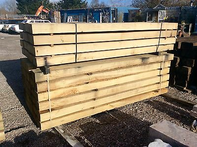 NEW UNTREATED OAK TIMBER BEAMS / LINTELS / SLEEPERS 200X100 x 2.4M