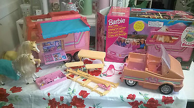 Vintage Barbie Horse Trailer and Jeep in Original Box