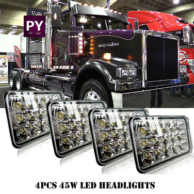 4x LED Headlights for Western Star 4900 Semi Truck Commercial Vehicle