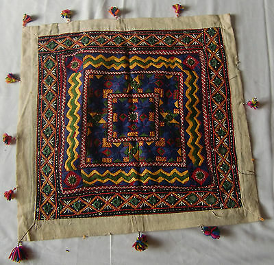 Traditional Old Vintage Embroidery Cushion/pillow Cover India Fine India Art 26
