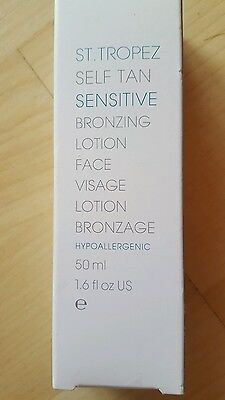 St.Tropez Self Tan Sensitive Bronzing Lotion Face 50ml.Hypoallergenic