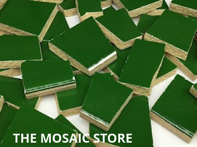 Forrest Green Irregular Ceramic Tiles for Mosaic Art & Craft