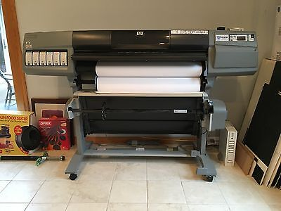 Hp Designjet 5500ps UV Large Format Printer Auto Take Up Spool 5500 Plotter