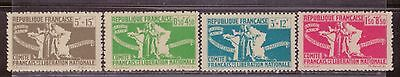1943 French colony stamps, full set MH, SC B3-6
