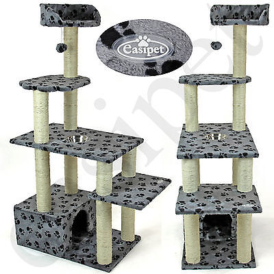 Large Cat Kitten Tree Scratcher Play Activity Centre Bed House Scratching Post