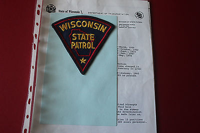 Shoulder Patch from Wisconsin State Patrol