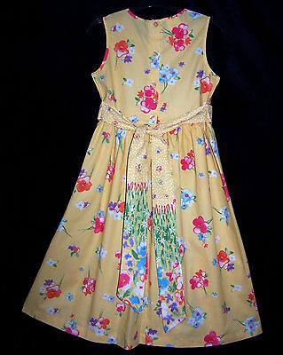 Laura Ashley vintage mother & child label floral cotton pinafore-dress 8 years