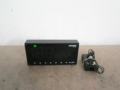 DateQ SPL-D2 LED Speaker Management Decibel Meter + AC Adapter ** WORKING ** !