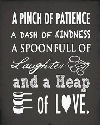 A Pinch of Patience Quote Fridge Magnet kitchen dining room best gift for anyone