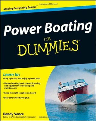Power Boating for Dummies,PB,Randy Vance - NEW