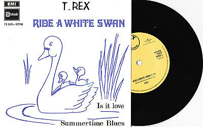 "T. Rex - Ride A White Swan / Is It Love / Summertime Blues- 7"" EU Vinyl 45 -New"