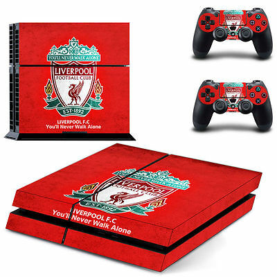 PS4 Game Console Controller Decal Skin Wrap Football Red Sticker Cover Liverpool