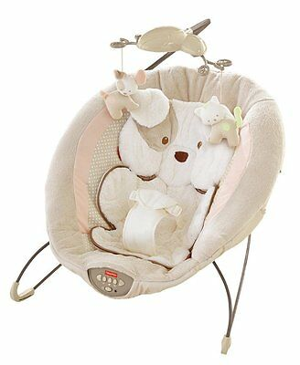 Fisher-Price My Little Snugapuppy Deluxe Bouncer Baby Seat Cradle Sleeper New