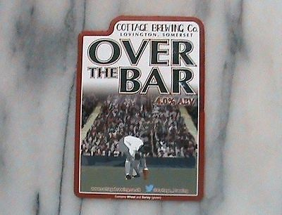 COTTAGE OVER THE BAR REAL ALE BEER PUMP CLIP SIGN Football Theme