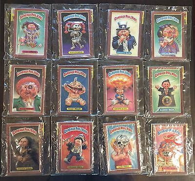 1986 Garbage Pail Kids 3-D Wall Plak, All 12 Sealed Packs, Complete Set! TWT