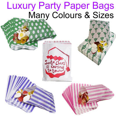 """Paper Party Bags 5"""" x 7"""" Candy Cart Pick And Mix Wedding Small Gift Sweets Treat"""