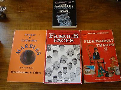 Lot of 4 Price Guides & Reference Books on Collecting Marbles, Currency, Other