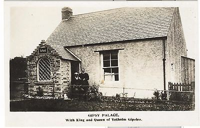 Gipsy Palace With King and Queen of Yetholm Gypsies  RP Nr Kelso