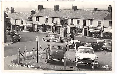 Town Centre, Cinderford RP Forest of Dean - old cars