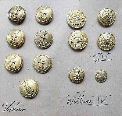 Rare George IV, William IV & Victorian Naval/Military Button Collection