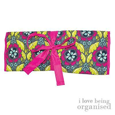 Floral & Fun Crochet Soft Case | Knitting Needle Roll-Up | Store Textile Tools |