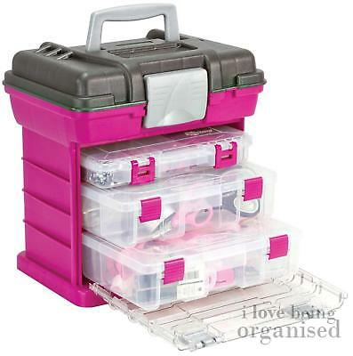 Storage Box Crafts Hobbies Medium Grab N Go Rack System with 3 Organisers