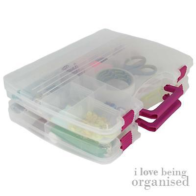 Creative Options Large Cool Connectable Craft Carrier Arts Hobby Storage