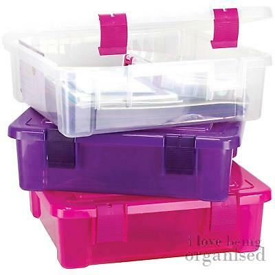 Extra Large Storage Stackable Project Box | Plastic Craft Bin | Creative Options