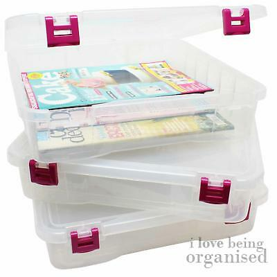 Creative Options Project Box, Craft Bin, Magenta Latches