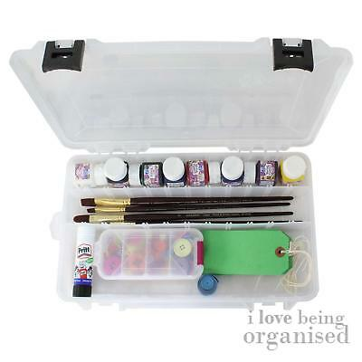 Strong Storage Box with Compartments Art Supplies Tools Paints | Creative Option