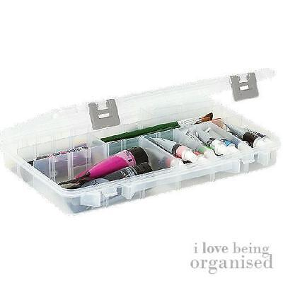 Creative Options Large Clear Organiser Box Customisable Compartments Craft