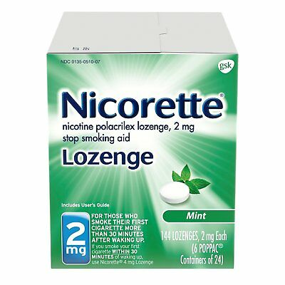 Nicorette Lozenges Nicotine Mint Stop Smoking Aid, 2 Mg - 144 Count