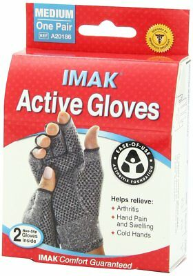 Imak Compression Active Original Gloves With Arthritis Foundation (Pack of 3)