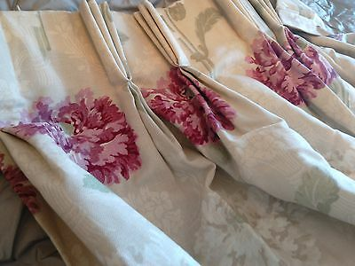 "Laura Ashley Ruskin Raspberry made to measure curtain 82"" Drop"