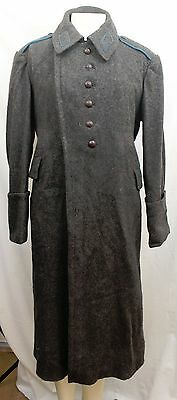 Soviet Army Wool Great Coat - Genuine Original Russian Issued Military Grey A118