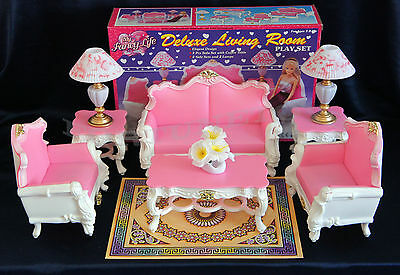 NEW FANCY LIFE DOLL HOUSE FURNITURE DELUXE LIVING Room (2317) PLAYSET
