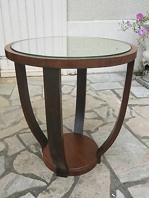 Guéridon table de salon ART DECO acajou Epoque 1930