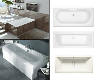Double Ended Bath Modern White Bathtub Square Round 1700 1800 1900 White UK Made