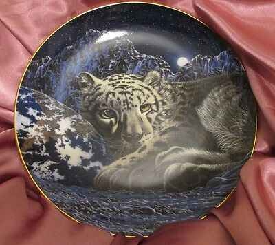 Royal Doulton Franklin Mint Warmth Of Home White Tiger Plate