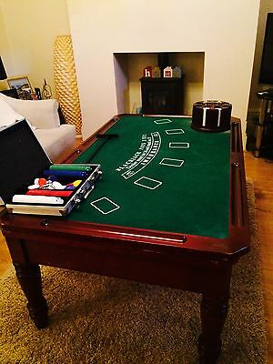 Wooden Antique Casino Gaming/Card Table