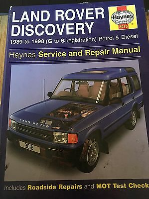 Land Rover Discovery 1 Haynes Workshop Manual 1989 to 1998 (DA3036)
