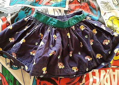 little bird girls  toadstool print skirt age 6-9 months