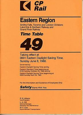 Lot of 2 CP Rail Timetables (Eastern Region 44 and 49)