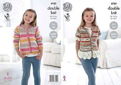 KINGCOLE 4782 CHILDRENS DK KNITTING PATTERN  21-28 IN -not the finished garments